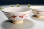 奈良絵 夫婦茶碗A横からの写真