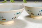 奈良絵 夫婦茶碗B横からの写真