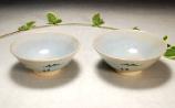 奈良絵 夫婦茶碗B上からの写真