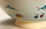 奈良絵 夫婦茶碗Bアップの写真