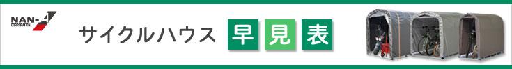 南栄工業 サイクルハウス 早見表