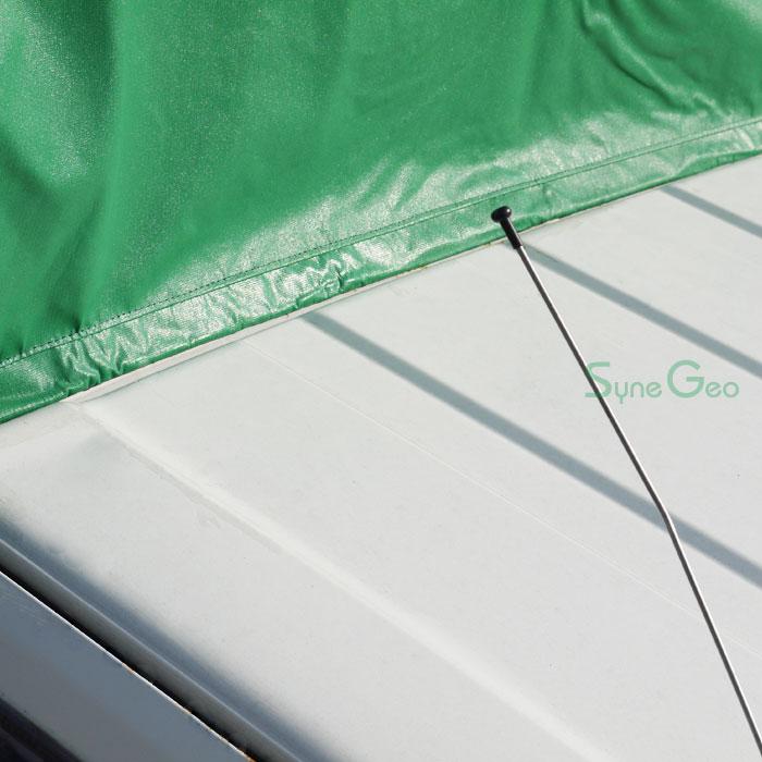 運転席天井、雨侵入防止対応(写真はKLシートの画像)