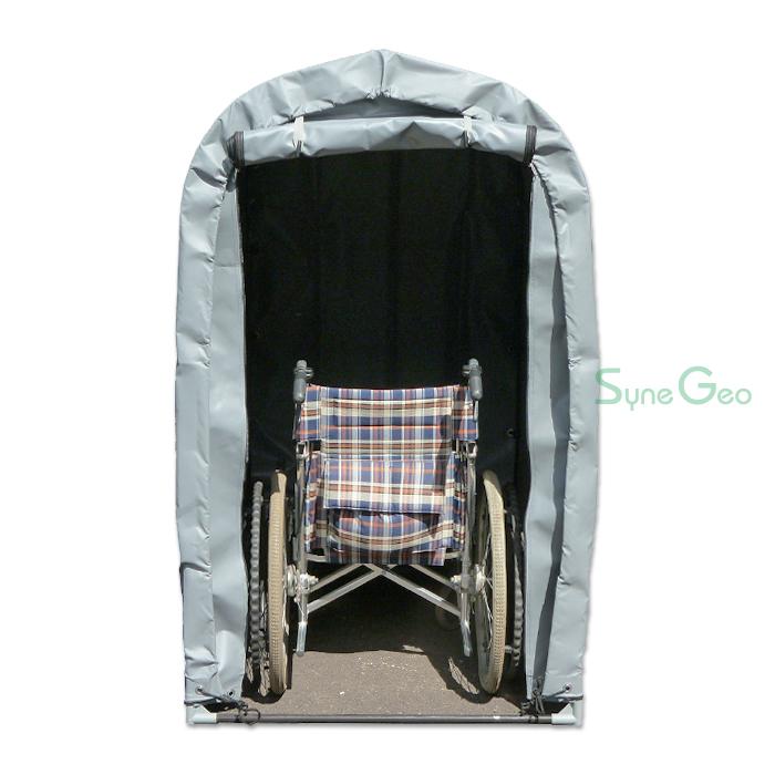 車椅子や屋外用品の収納にも